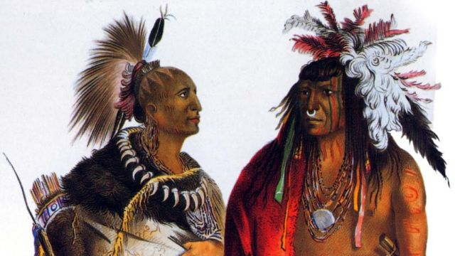 A Contemporary Drawing Of Native Americans