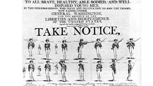Continental Army Recruitment Poster