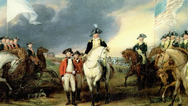 British Surrender At Yorktown