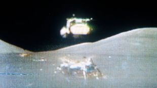 Lunar Lander Blasts Off