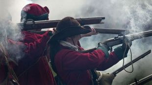 Musketeers In English Civil War Reenactment