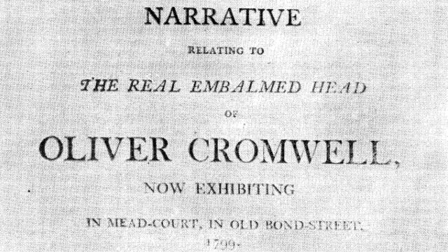 Detail Of Pamphlet Advertising Oliver Cromwell's Head