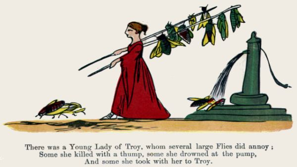 Edward Lear's illustration for his limerick: There was a Young Lady of Troy