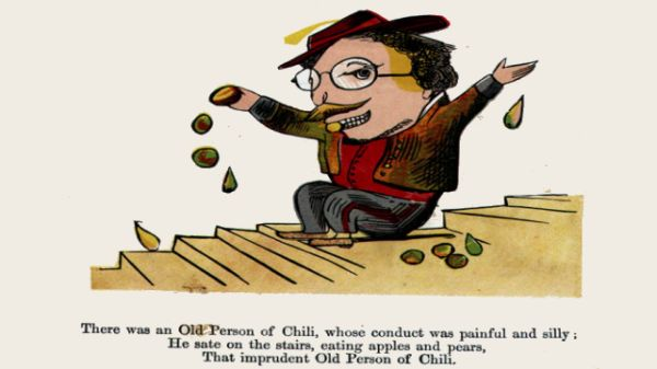 Edward Lear's illustration for his limerick: There was an Old Person of Chili