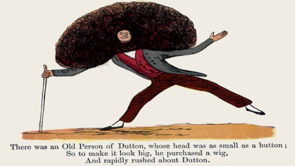 Edward Lear's illustration for his limerick: There was an old person of Dutton