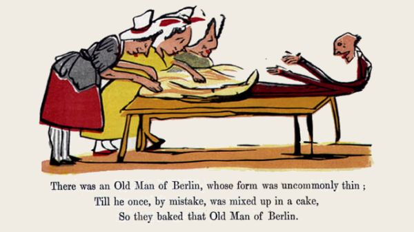 Edward Lear's illustration for his limerick: There was an Old Man of Berlin