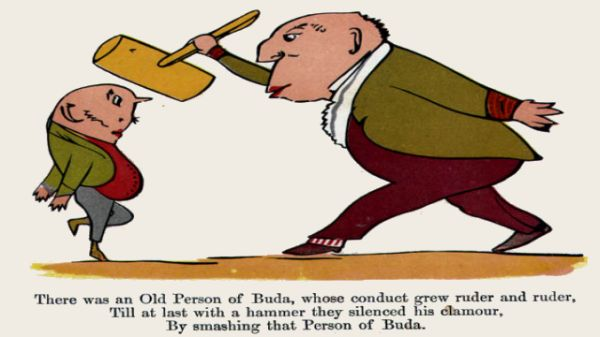 Edward Lear's illustration for his limerick: There was an Old Person of Buda