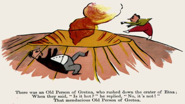 Edward Lear's illustration for his limerick: There was an Old Person of Gretna