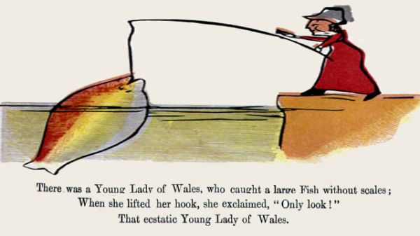 Edward Lear's illustration for his limerick: There was a Young Lady of Wales