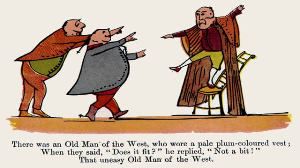 Edward Lear's illustration for his limerick: There was an Old Man of the West