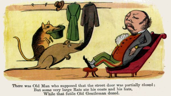 Edward Lear's illustration for his limerick: There was an Old Man who supposed