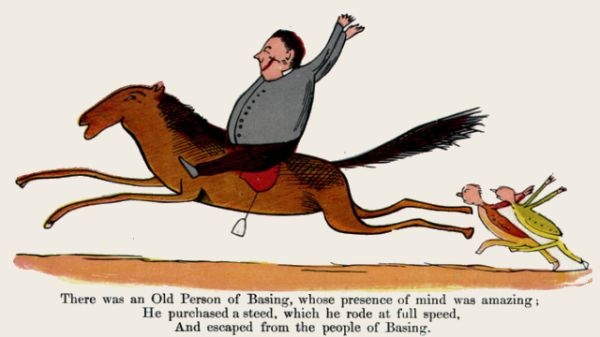 Edward Lear's illustration for his limerick: There was an Old Person of Basing