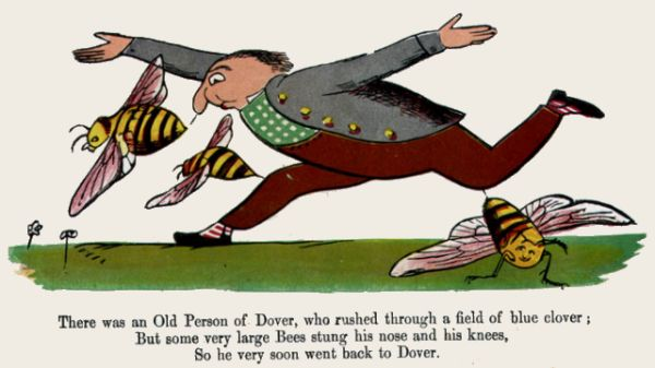 Edward Lear's illustration for his limerick: There was an old person of Dover