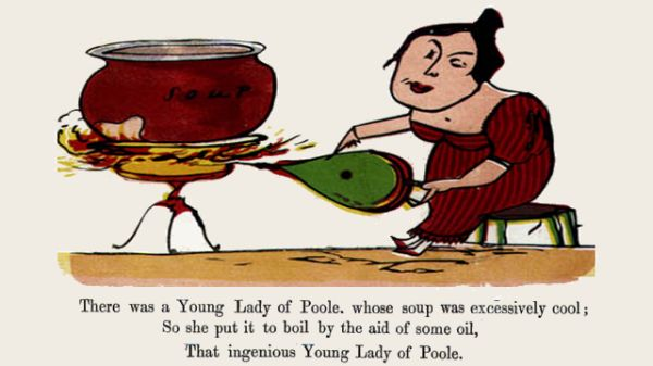 Edward Lear's illustration for his limerick: There was a Young Lady of Poole