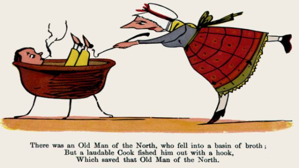 Edward Lear's illustration for his limerick: There was an Old Man of the North