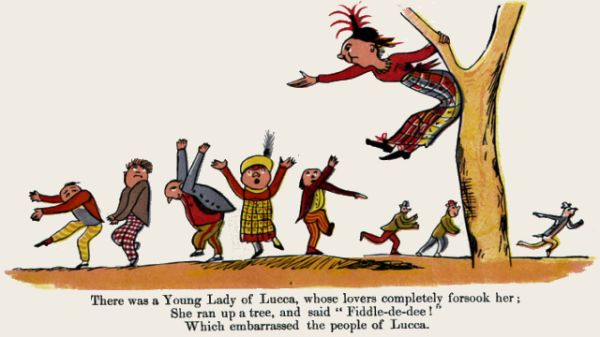 Edward Lear's illustration for his limerick: There was a Young Lady of Lucca