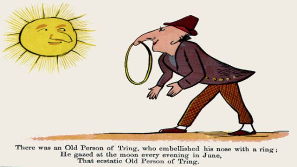 Edward Lear's illustration for his limerick: There was an Old Person of Tring