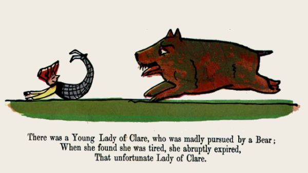 Edward Lear's illustration for his limerick: There was a Young Lady of Clare