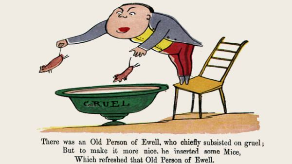 Edward Lear's illustration for his limerick: There was an Old Person of Ewell