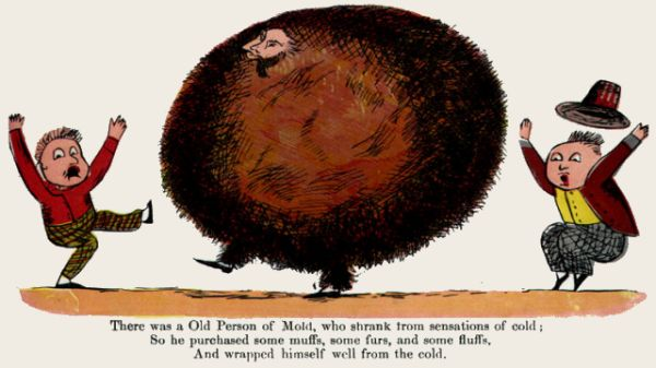 Edward Lear's illustration for his limerick: There was an Old Person of Mold
