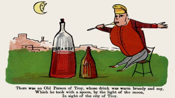 Edward Lear's illustration for his limerick: There was an Old Person of Troy