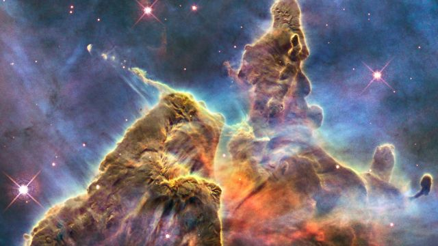 The Carina Nebula Photographed By The Hubble Space Telescope