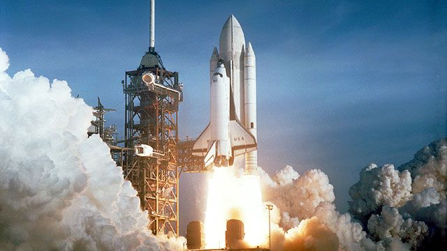 Columbia Launching On The Maiden Flight