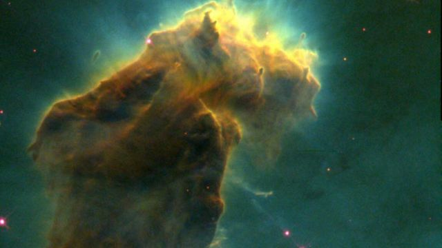 One Of The Pillars In The Eagle Nebula Photographed By The Hubble Space Telescope