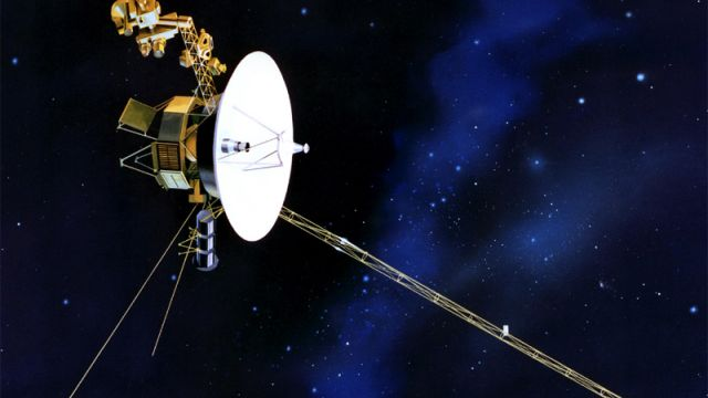 An Artist's Impression Of Voyager Traveling Through Space