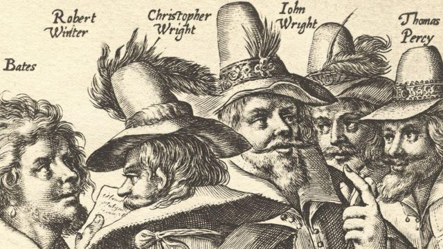 The Gunpowder Plot Conspirators, Thomas Bates, Robert Wintour, John Wright and Thomas Percy