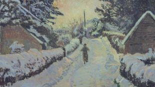 A Figure Walking In The Snow