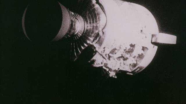 Damage Caused To The Apollo 13 Command Module By An Explosion