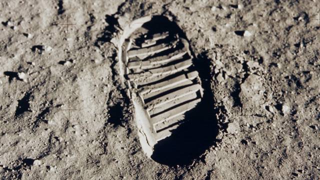 Buzz Aldrin's Footprint On The Moon