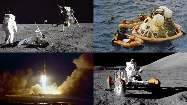 Montage Of Images From The Apollo Program