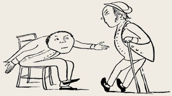 Edward Lear's illustration for his limerick: There was an old person of Deal
