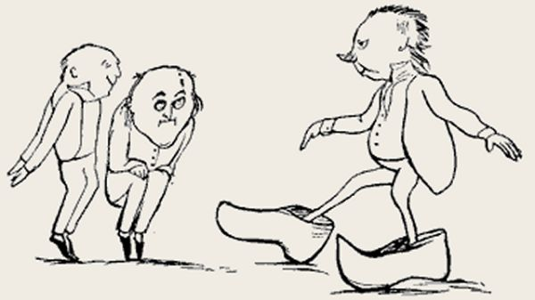 Edward Lear's illustration for his limerick: There was an old man of Toulouse