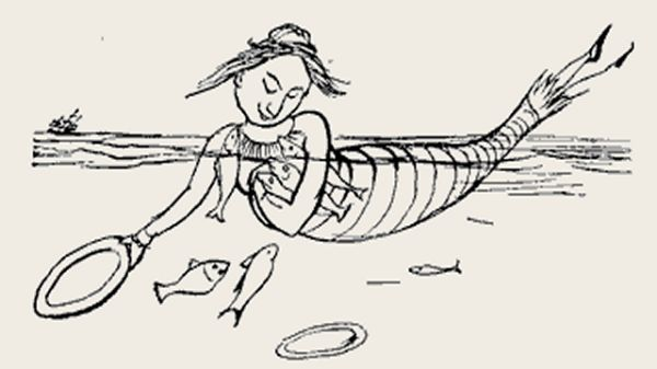 Edward Lear's illustration for his limerick: There was an old person of Bree