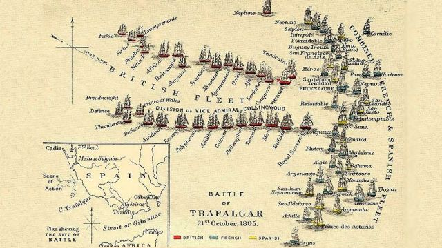 The Plan For The Battle Of Trafalgar