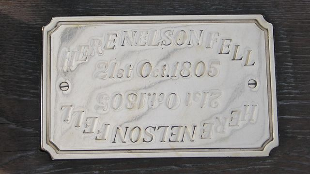 Plaque On HMS Victory Marking The Spot Where Nelson Fell