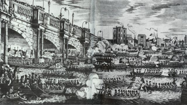 A Flotilla Of Boats At Nelson's Funeral