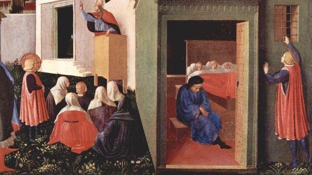 Saint Nicholas Giving Money