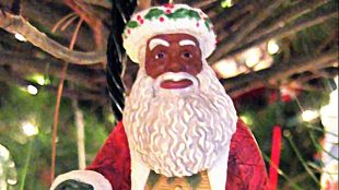 Rastafarian Santa Claus