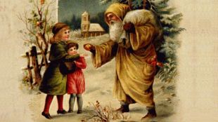 Santa Claus Dressed In Yellow