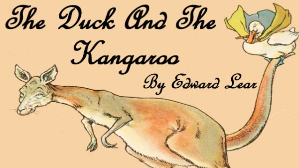 Title Card For The Duck And The Kangaroo By Edward Lear