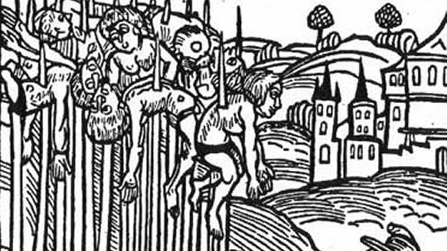 Impaled Victims Of Vlad The Impaler