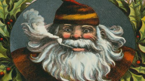 Santa Claus With Pipe